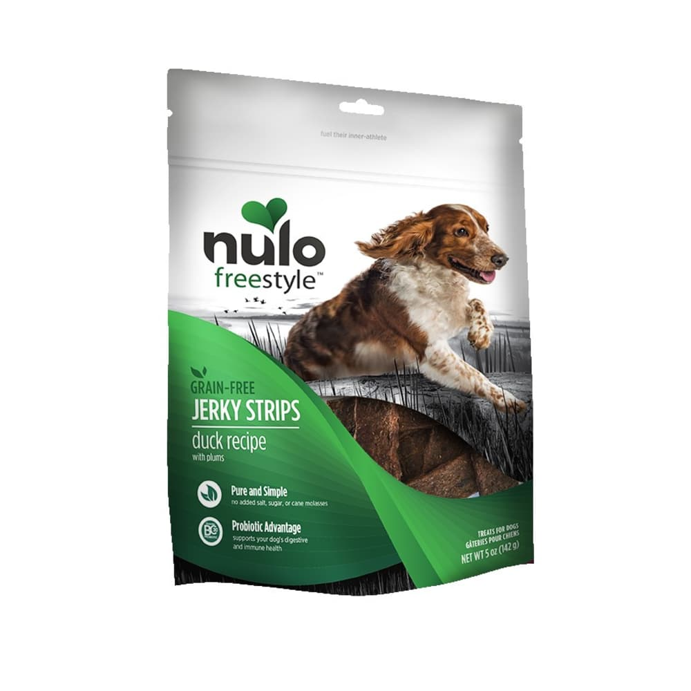Nulo - FreeStyle Dog Jerky Treat Duck Plum, 5oz