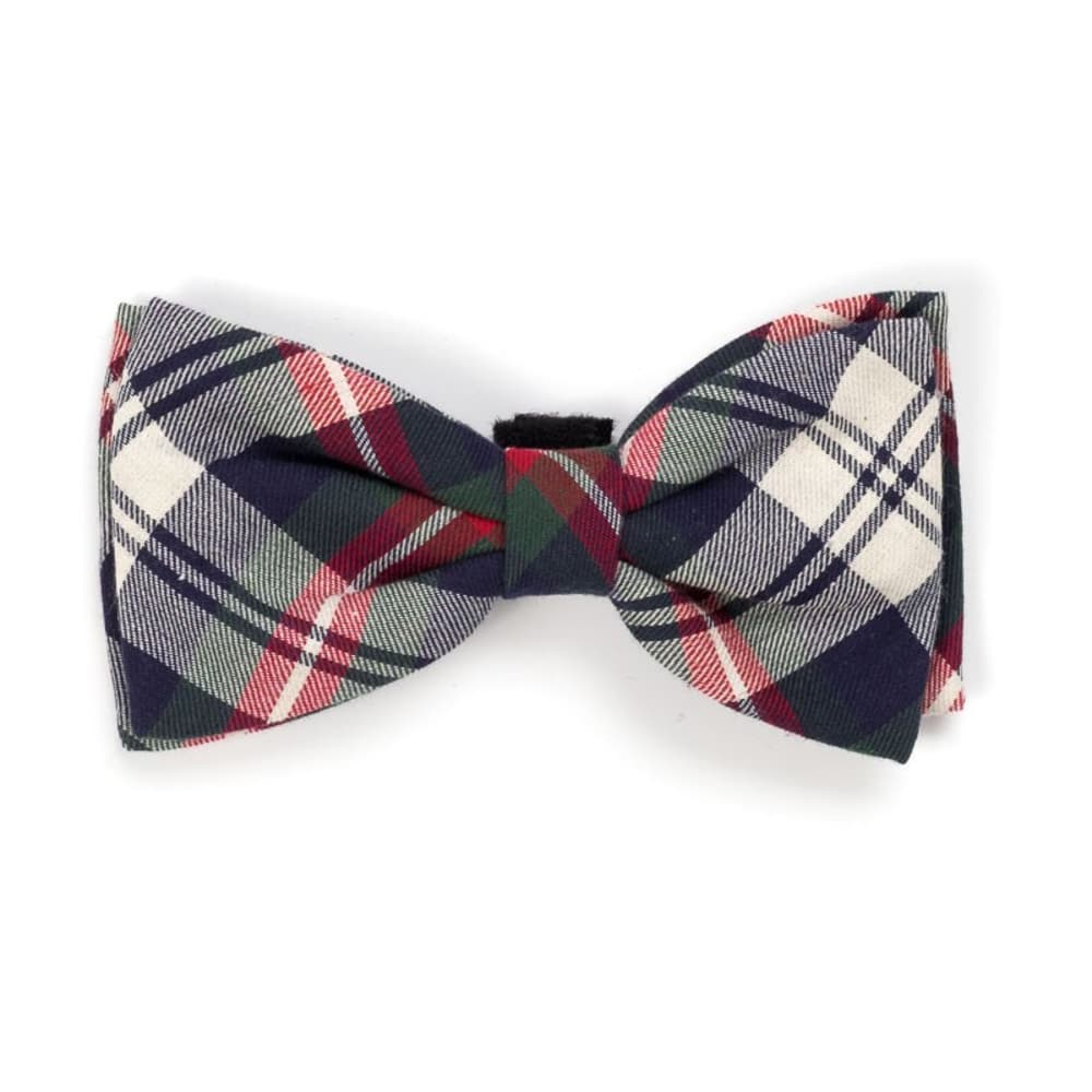 The Worthy Dog - Plaid Navy Bow Tie