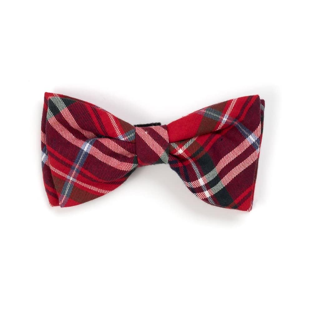 The Worthy Dog - Plaid Red Bow Tie