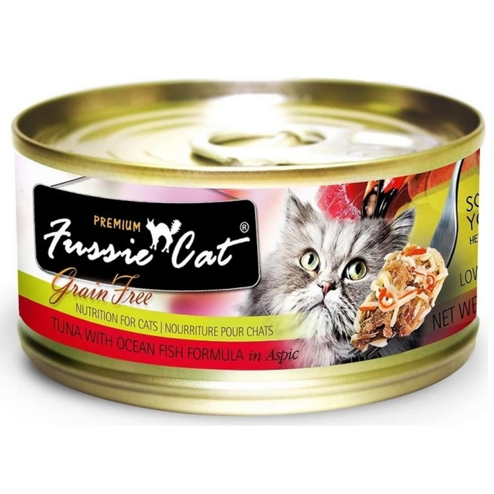 Fussie Cat - Premium Grain Free Tuna With Oceanfish Formula Canned Cat Food, 2.82oz