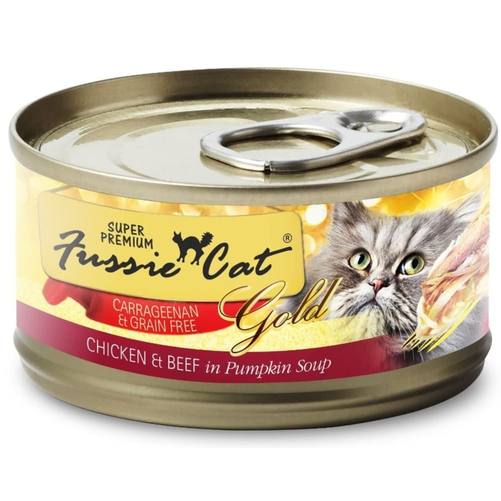 Fussie Cat- Super Premium Grain Free Chicken & Beef Formula Canned Cat Food, 2.82oz