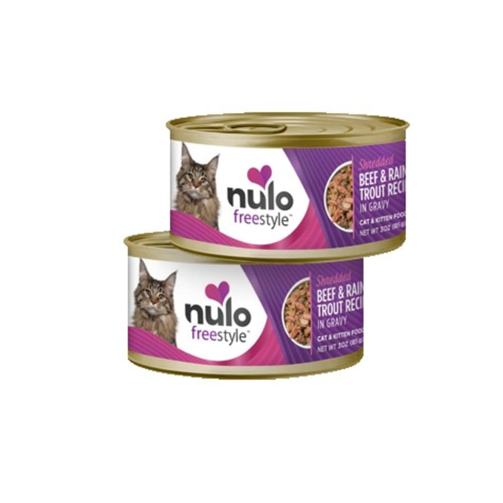 Nulo - FreeStyle Cat Shredded Beef & Rainbow Trout In Gravy, 3oz