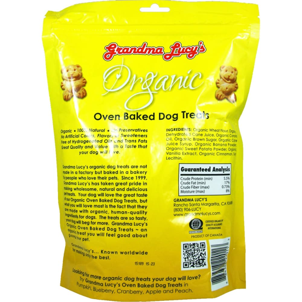 Grandma Lucy's - Organic Banana & Sweet Potato Recipe Oven-Baked Dog Treats, 14oz