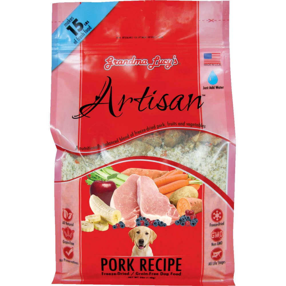 Grandma Lucy's - Artisan Pork Recipe Grain-Free Freeze Dried Dog Food
