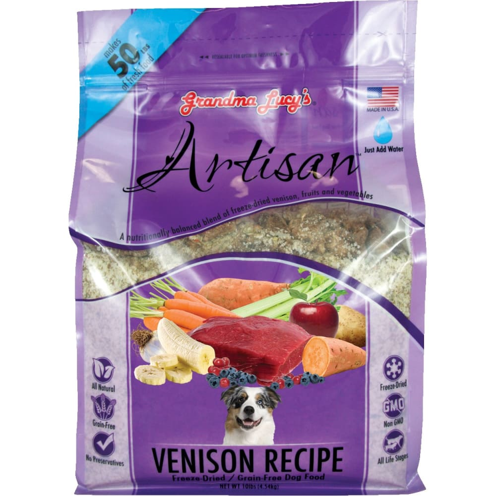 Grandma Lucy's - Artisan Venison Recipe Grain-Free Freeze Dried Dog Food