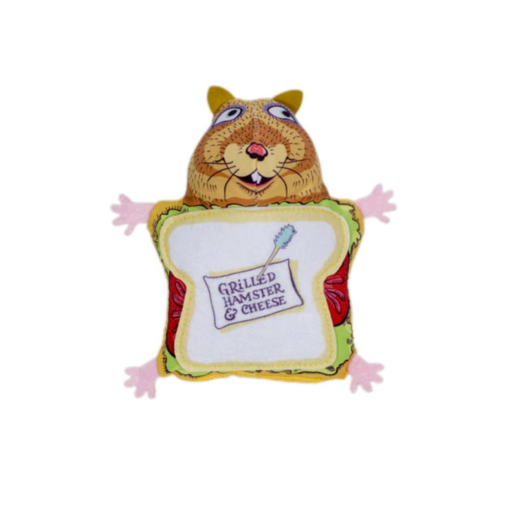 Fuzzu - Grilled Hamster And Cheese Cat Toy