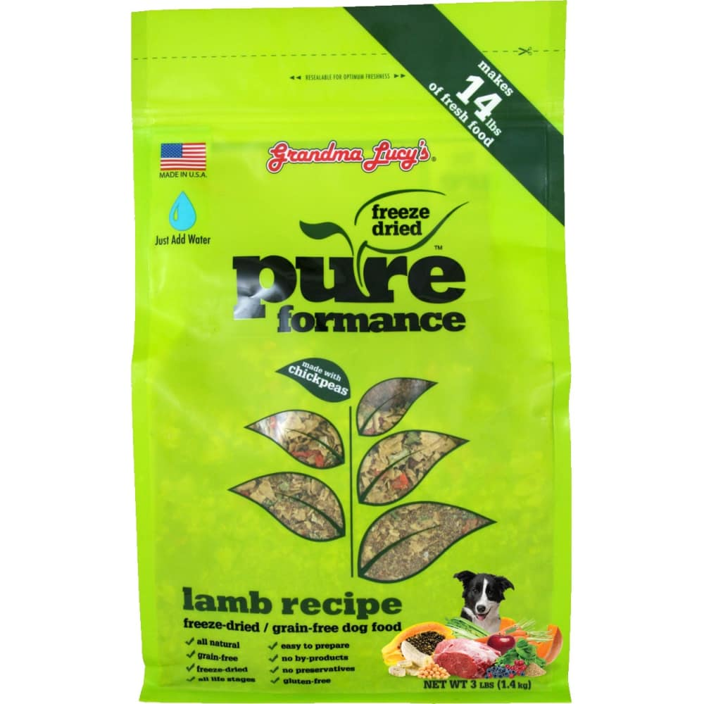 Grandma Lucy's - Pureformance Lamb Recipe Grain-Free Freeze Dried Dog Food