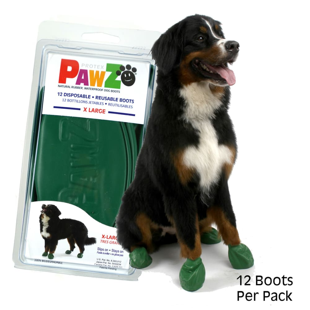 Pawz - XL Green Dog Boots