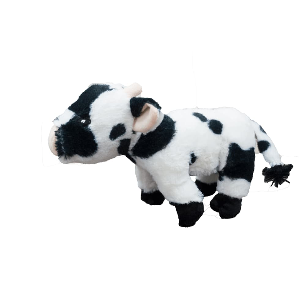 Steel Dog - Barnyard Ballers Cow W/ Tennis Ball Dog Toy