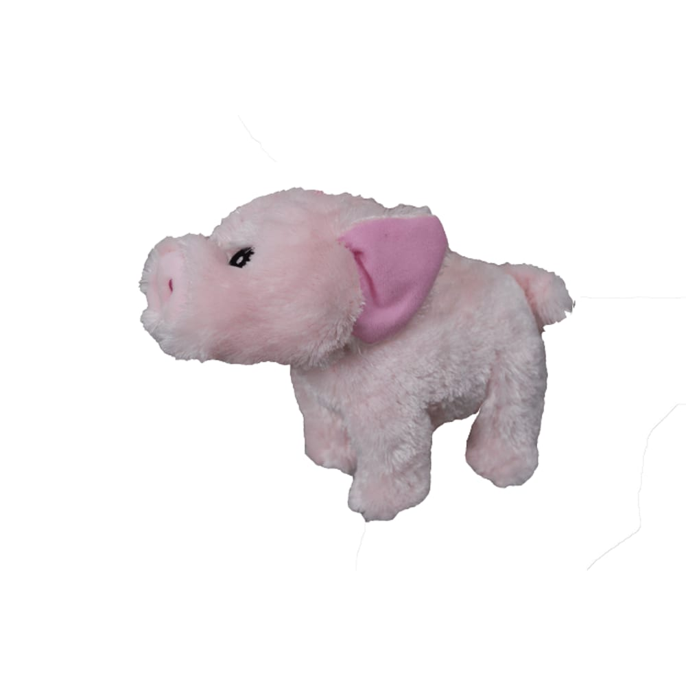Steel  Dog - Barnyard Ballers Pig W/ Tennis Ball Dog Toy