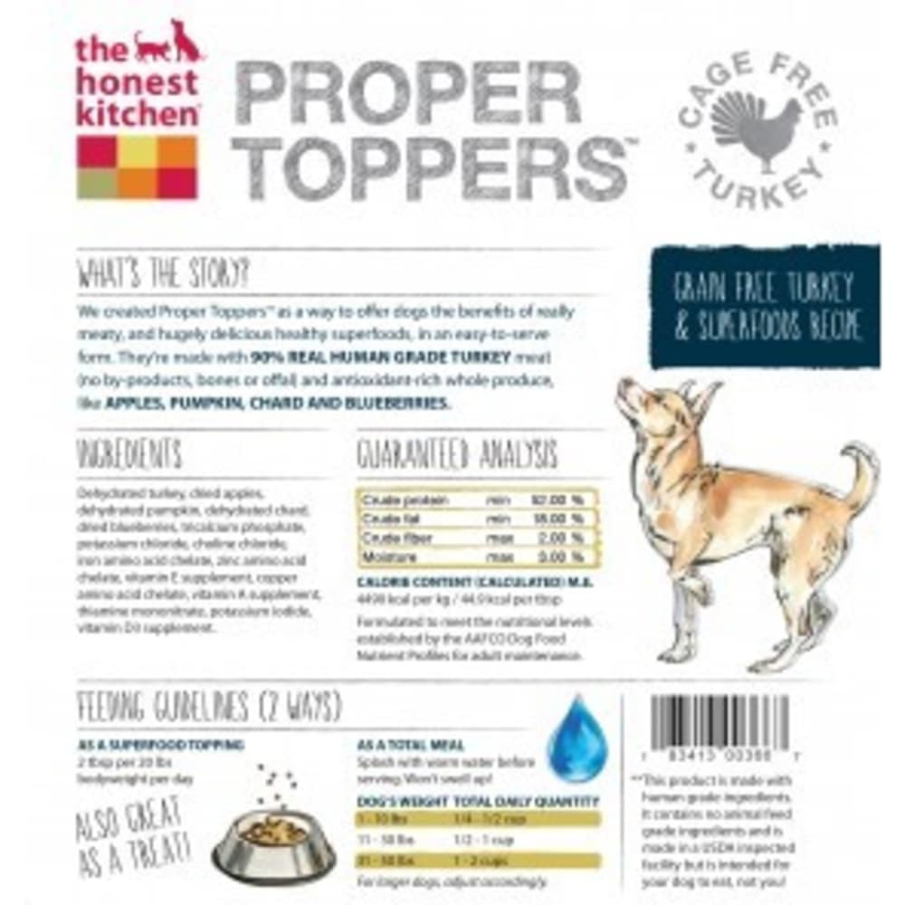 The Honest Kitchen - Proper Toppers Grain Free Turkey