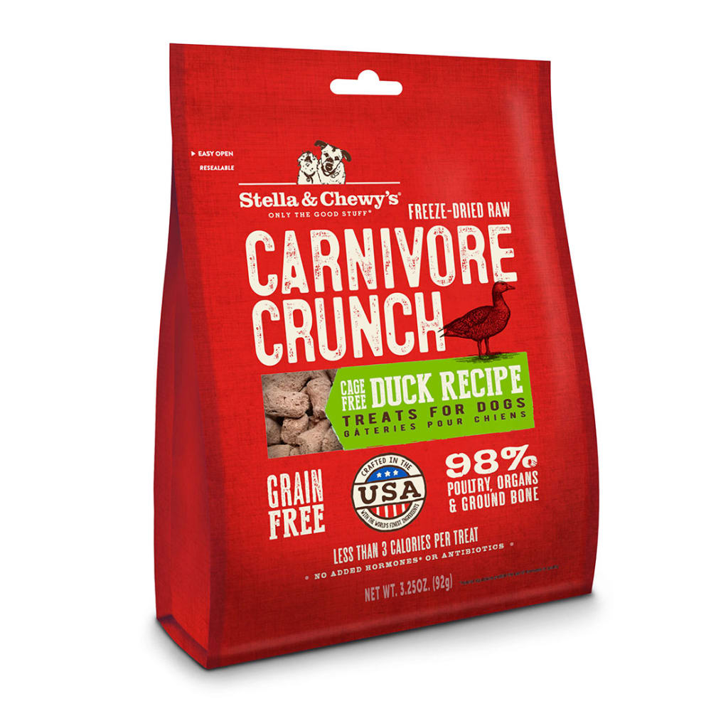 Stella & Chewy's - Carnivore Crunch Cage Free Duck Grain-Free Dog Treats, 3.25oz