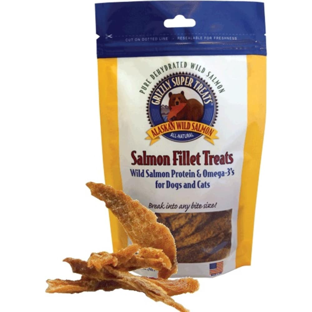 Grizzly Pet Products - Salmon Fillet Treats With Omega's For Cats And Dogs, 3oz