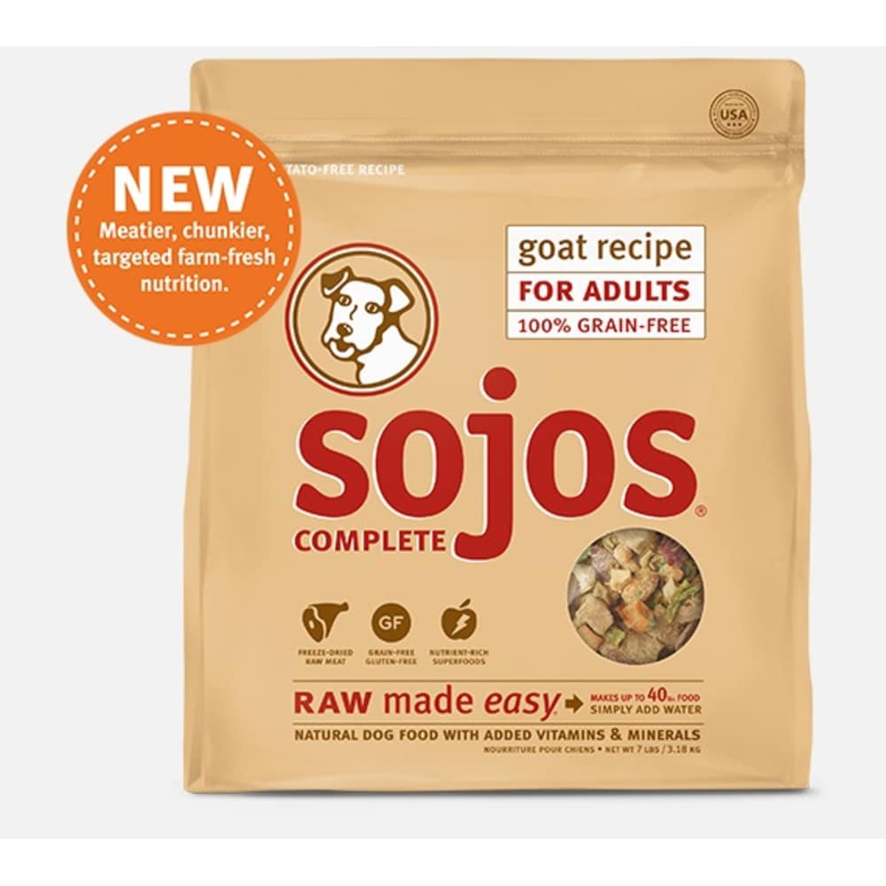 Sojos - Complete Goat Recipe Dehydrated Dog Food