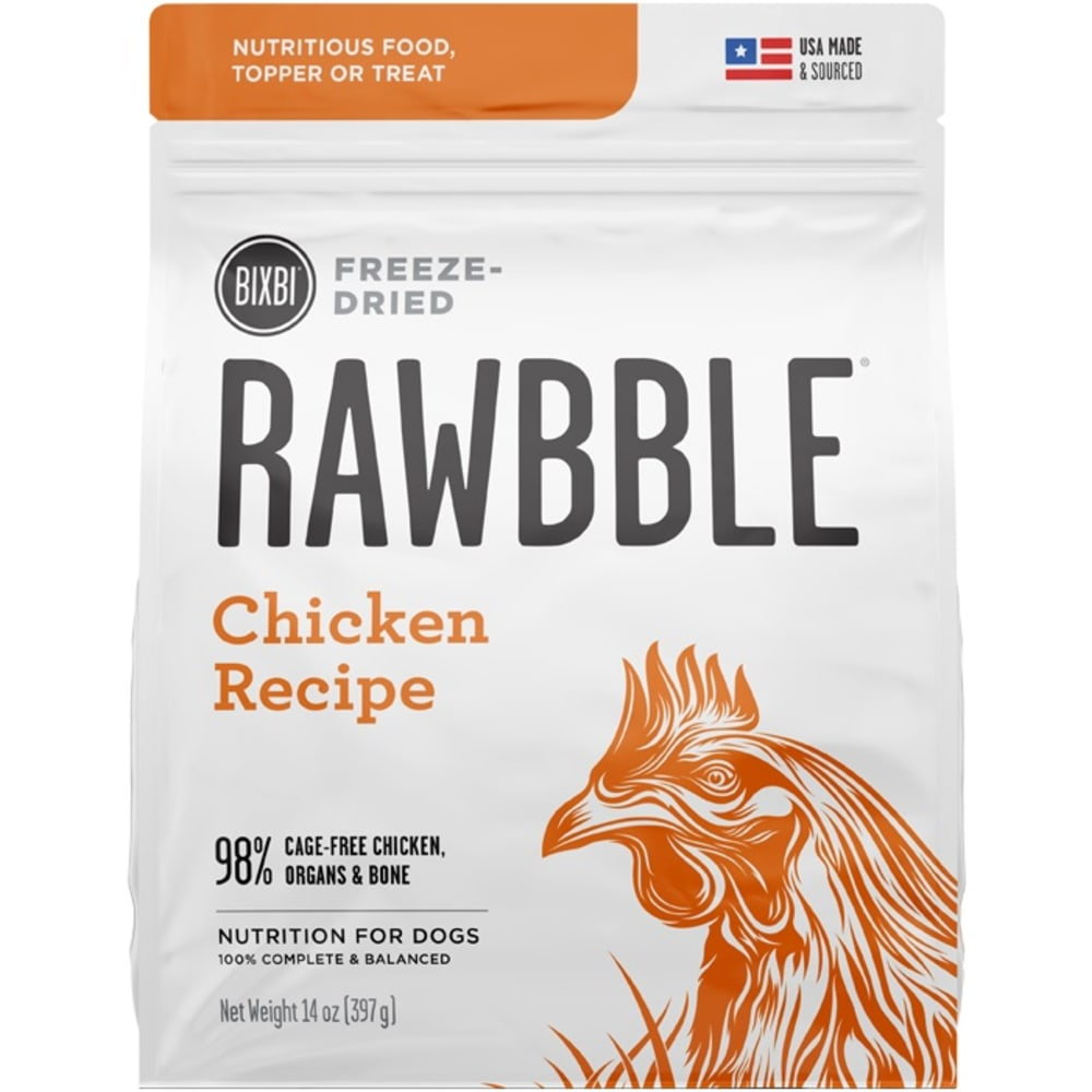 Bixbi - Rawbble Chicken Freeze Dried Dog Food, 5.5oz