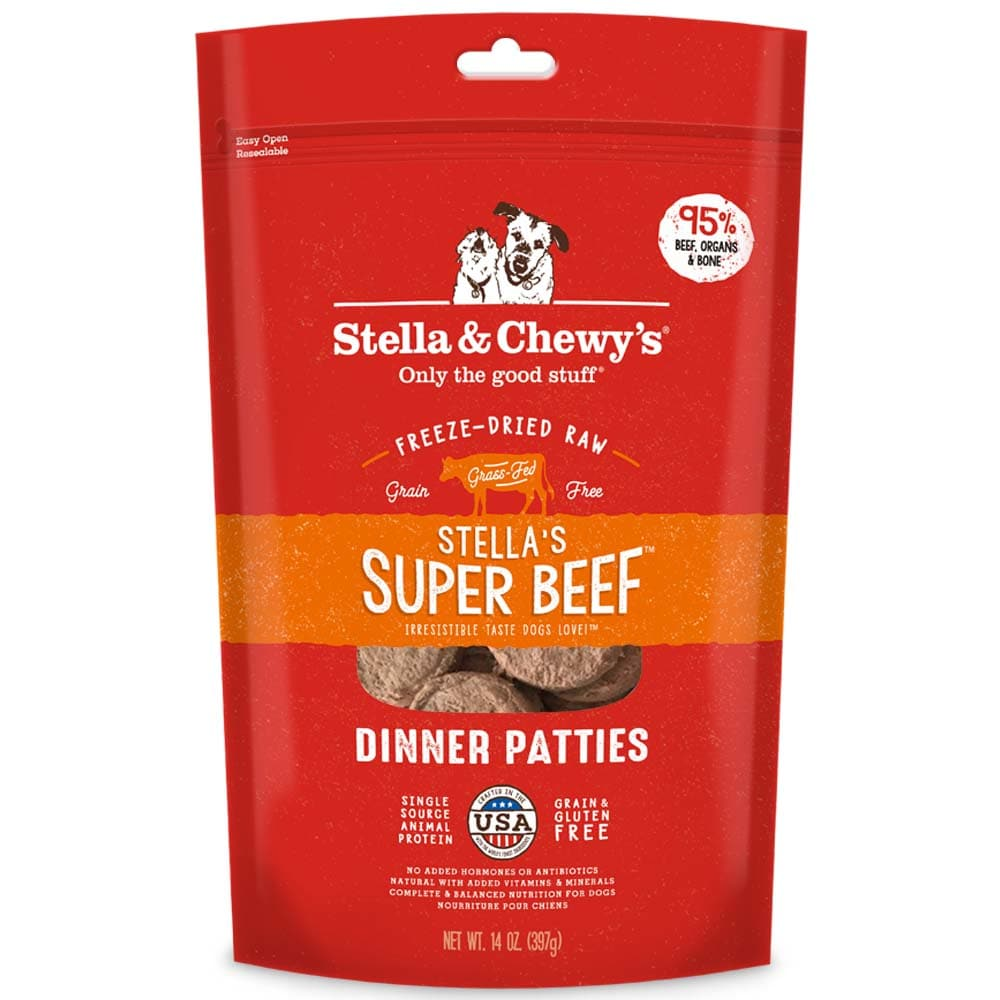 Stella & Chewy's - Stella's Super Beef Dinner Patties Grain-Free Freeze Dried Dog Food