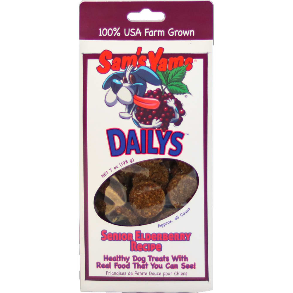Sam's Yams - Senior Elderberry Daily's Dog Treats, 7oz