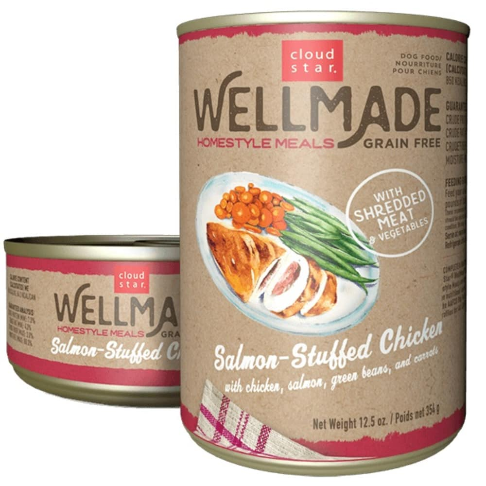 Cloud Star - WellMade HomeStyle Meals Salmon-Stuffed Chicken Wet Dog Food