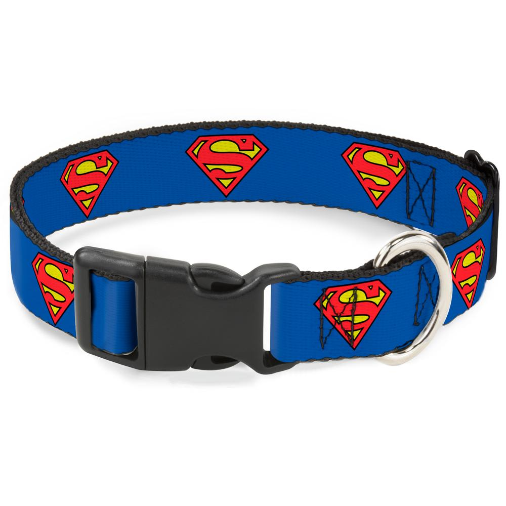 Buckle Down - Superman Shield Clip Dog Collar
