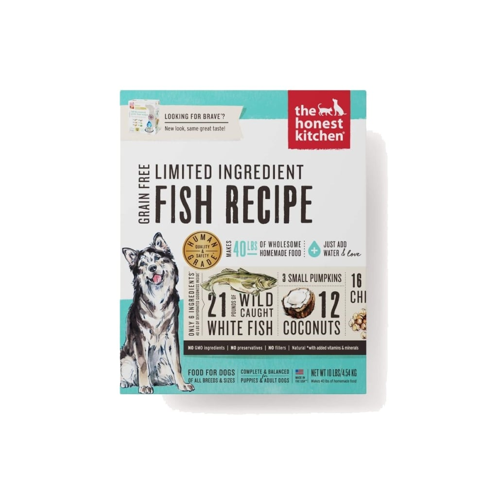 Honest Kitchen   Brave Fish U0026 Coconut Recipe Grain Free Dehydrated Dog Food