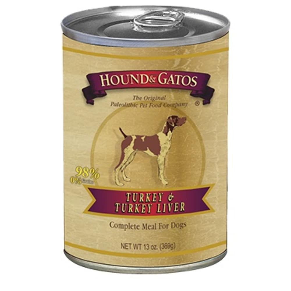 Hound And Gatos - Grain Free Turkey/Turkey Liver Wet Dog Food, 13oz