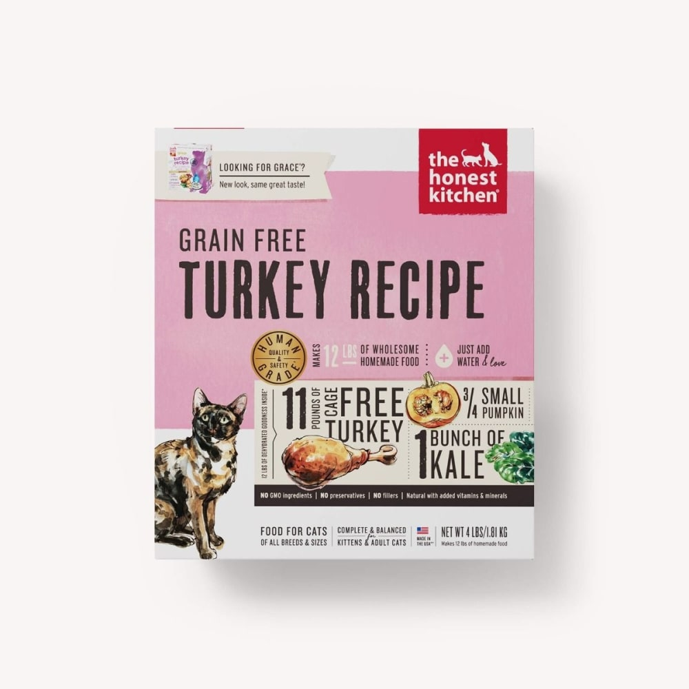 Honest Kitchen - Grace Grain-Free Turkey Cat Food, 4lbs