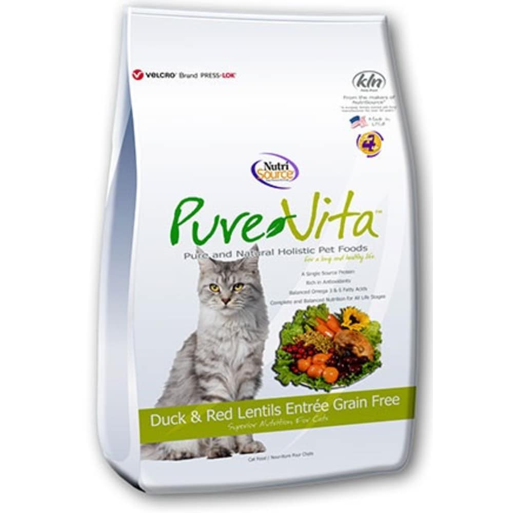 Pure Vita - Grain Free Duck & Red Lentil Dry Cat Food
