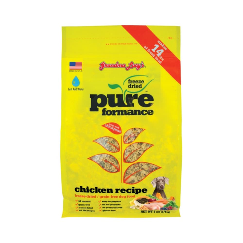 Grandma Lucy's - Pureformance Chicken Recipe Grain-Free Freeze Dried Dog Food