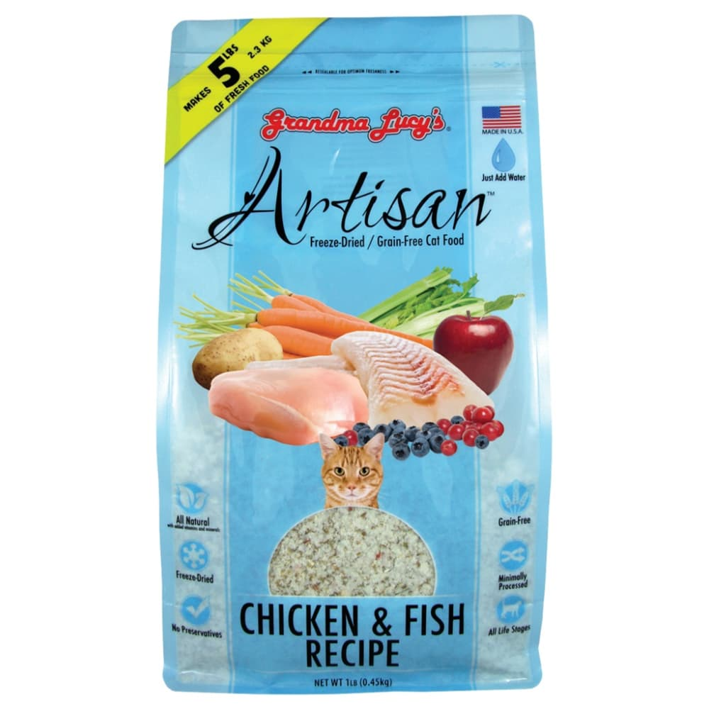 Grandma Lucy's - Artisan Chicken & Fish Recipe Grain-Free Freeze Dried Cat Food