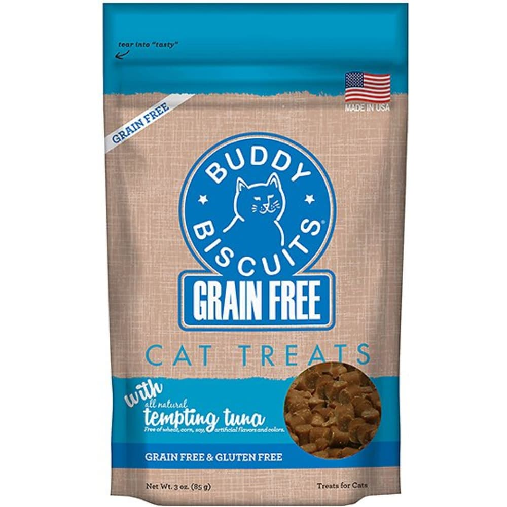 Cloudstar - Grain Free Buddy Biscuits Tuna Grain Free Cat Treat, 3oz