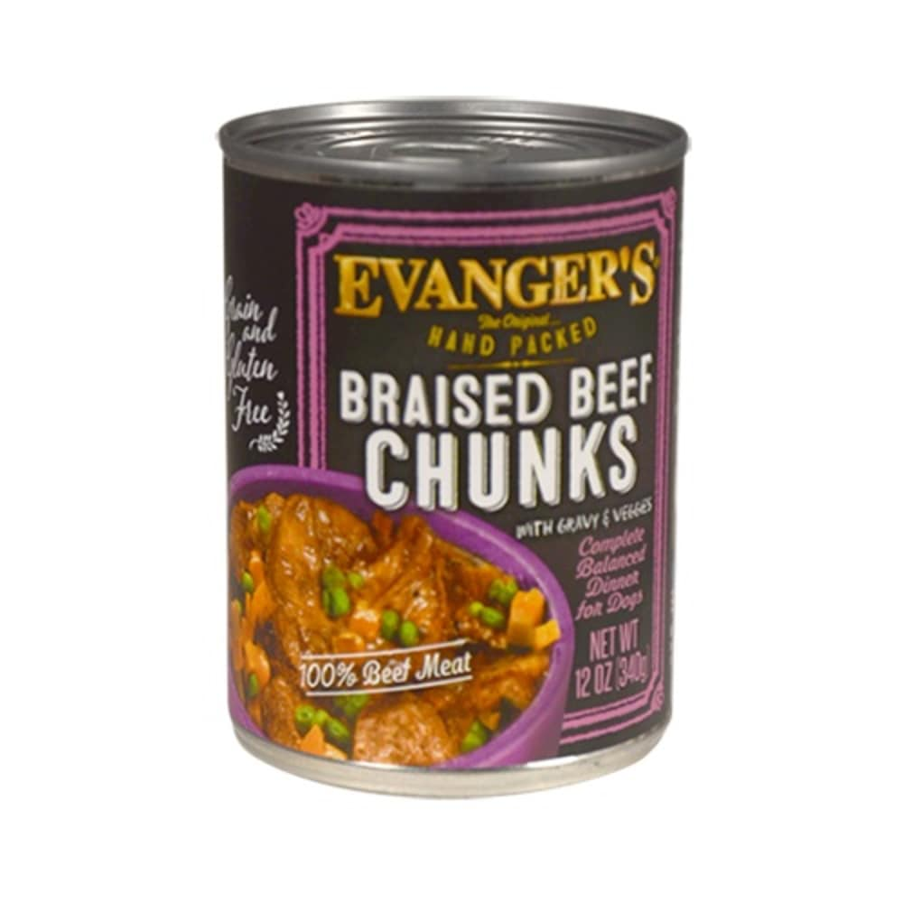 Evanger's - Braised Beef Chunks Grain-Free Canned Dog Food