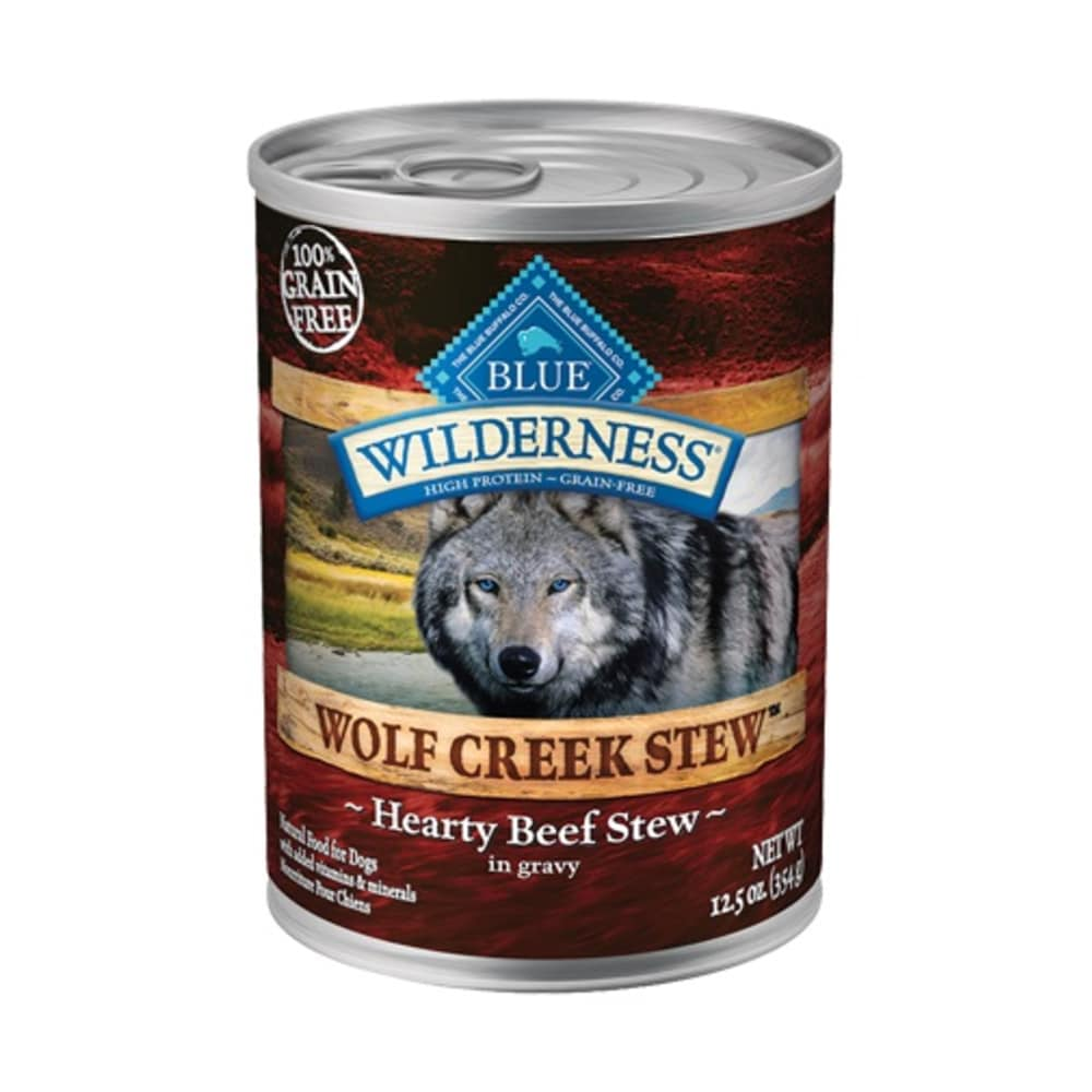Blue Buffalo - Wilderness Wolf Creek Hearty Beef Stew Wet Dog Food, 12.5oz