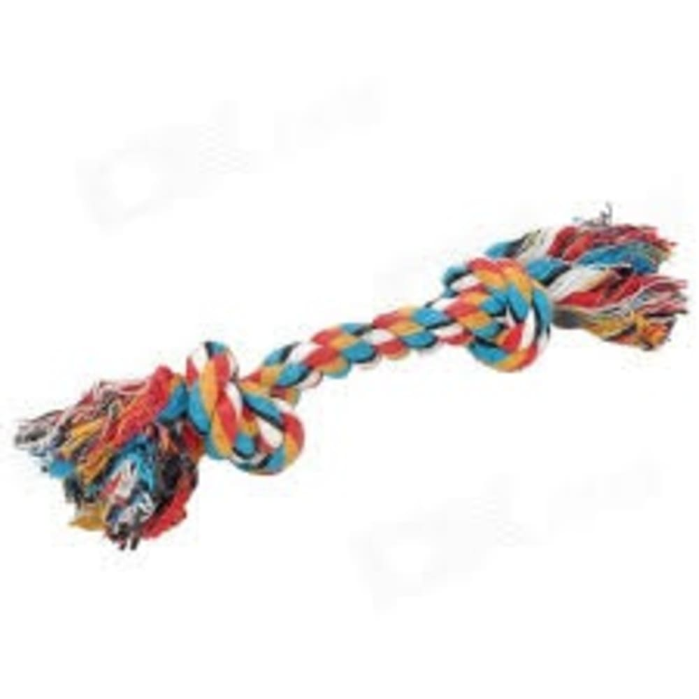 Mammoth - Flossy Chews Toss Tug Floss 2 Knot Colored Rope Dog Toy