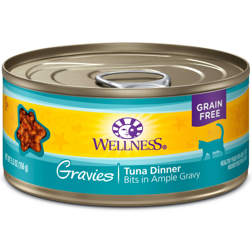 Wellness - Complete Health Gravies Tuna Dinner Wet Cat Food, 3oz