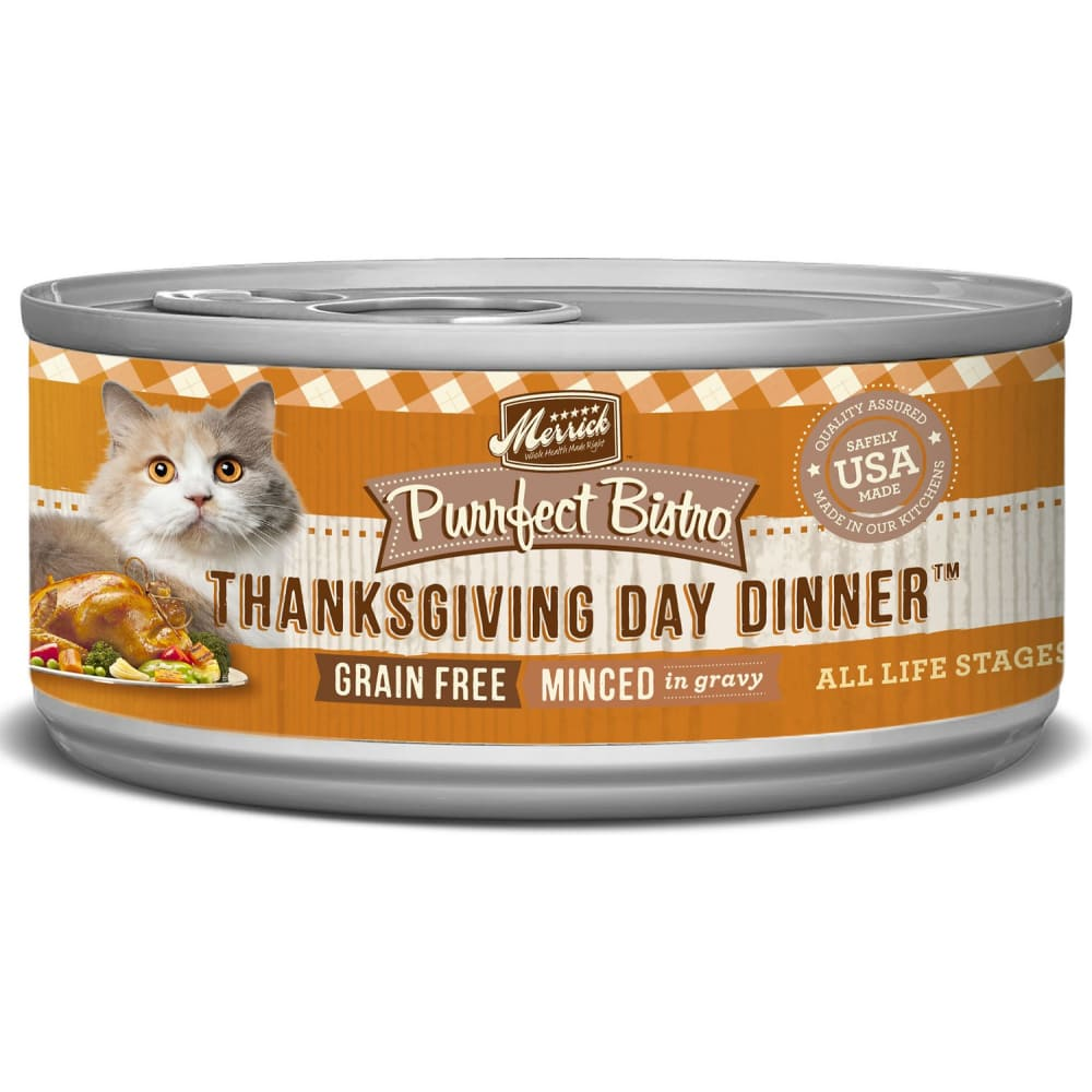 Merrick - Purrfect Bistro Grain-Free Thanksgiving Day Dinner Minced In Gravy Canned Cat Food
