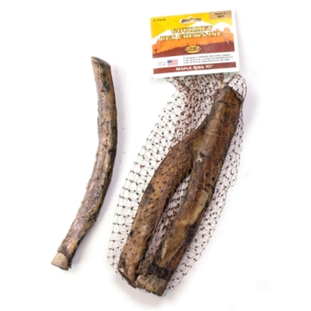 Venison Joe's - 10 Inch Maple Ribs Grain-Free Dog Chews, 3 Pack