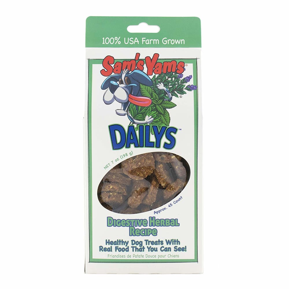 Sam's Yams - Digestive Herbal Dog Treats, 7oz