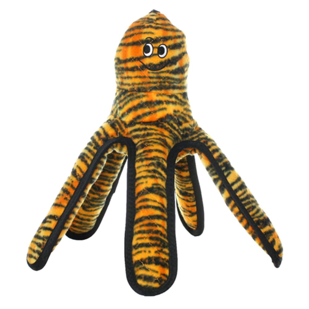 VIP Products - Tuffy Mega Tiger Print Octopus Dog Toy, Large
