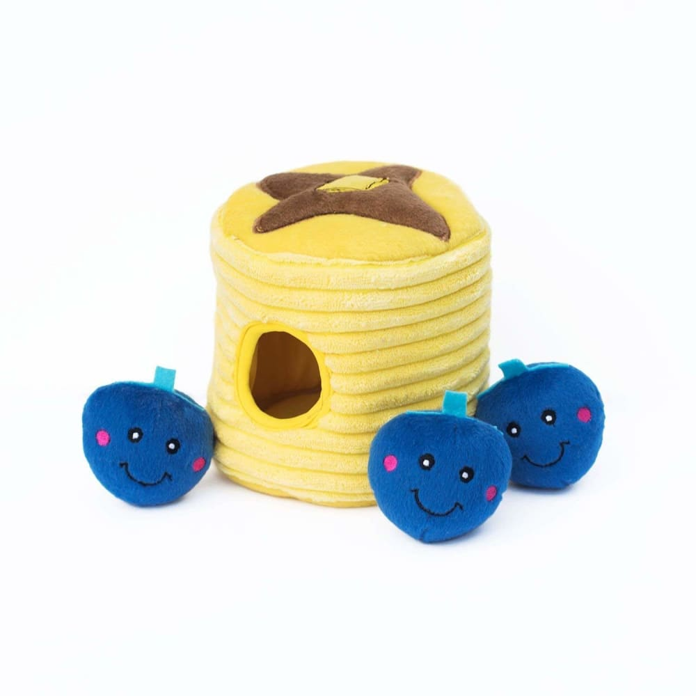 Zippy Paws - Blueberry Pancakes Interactive Burrow Dog Toy