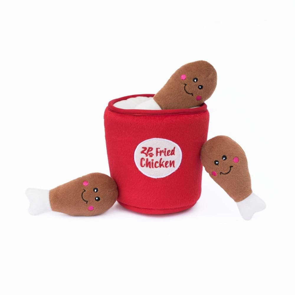 Zippy Paws - Bucket Of Chicken Interactive Burrow Dog Toy