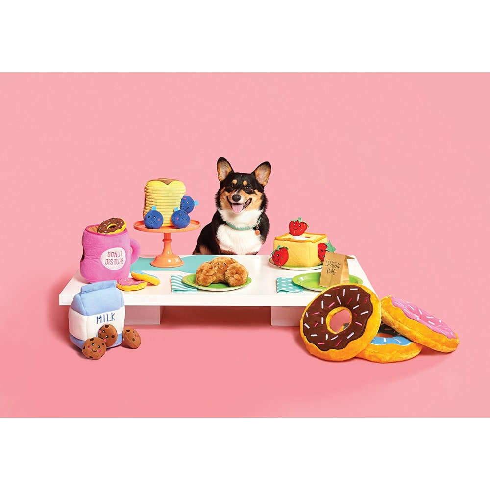 Zippy Paws - Coffee & Donuts Interactive Burrow Dog Toy