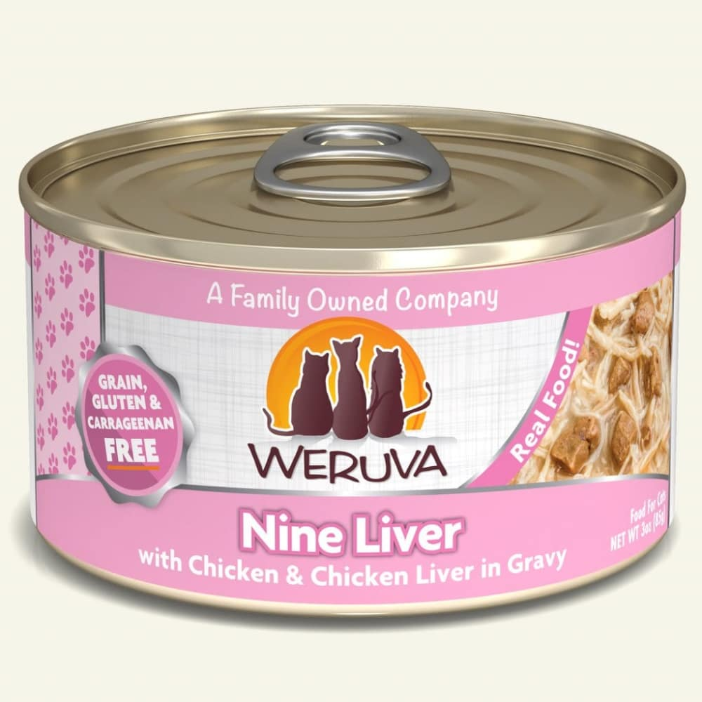 Weruva - Nine Liver With Chicken & Chicken Liver In Gravy Grain-Free Canned Cat Food