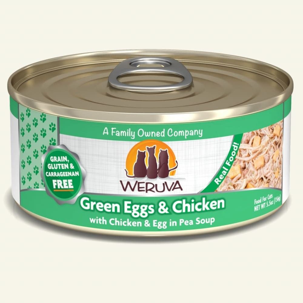 Weruva - Green Eggs & Chicken With Chicken & Egg In Pea Soup Grain-Free Canned Cat Food