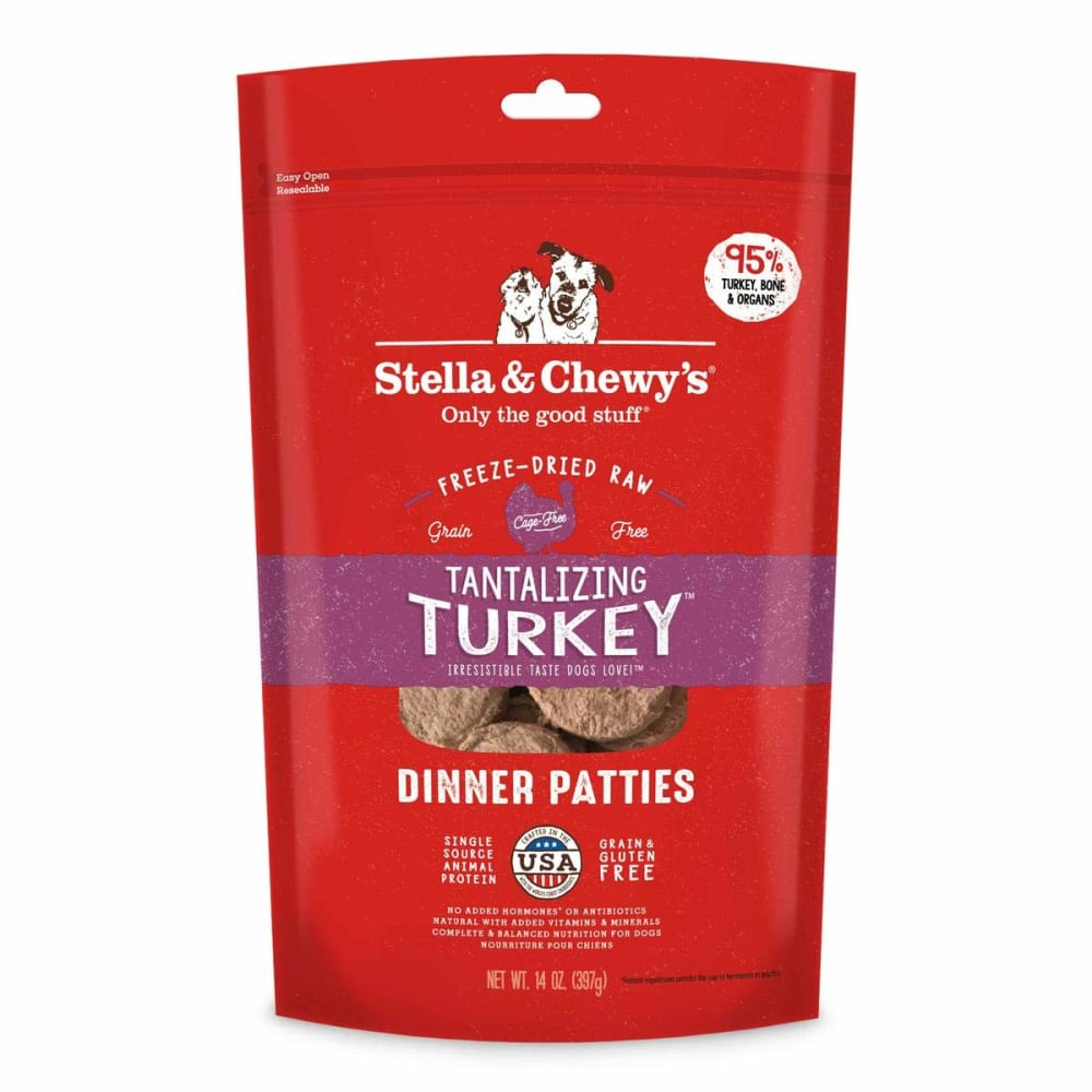 Stella & Chewy's - Tantalizing Turkey Dinner Patties Grain-Free Freeze Dried Dog Food