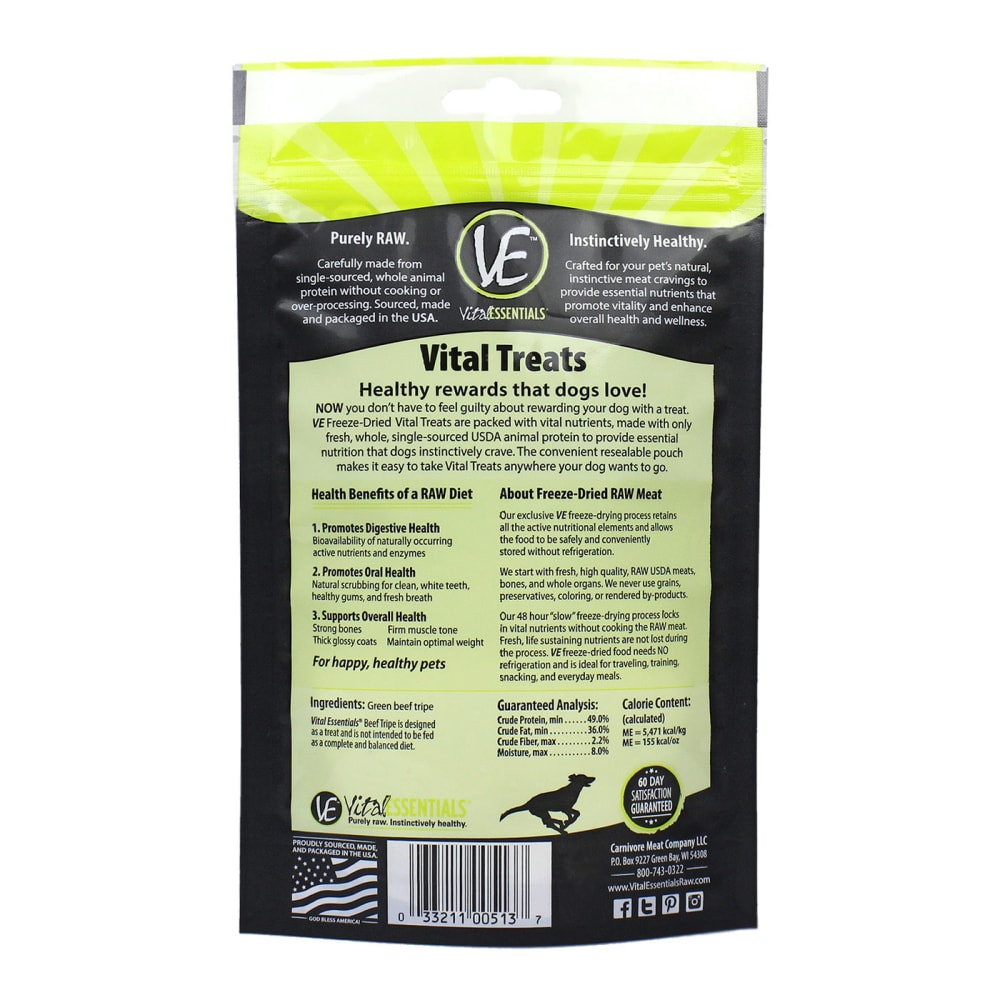 Vital Essentials - Beef Tripe Freeze Dried For Dogs, 2.3oz
