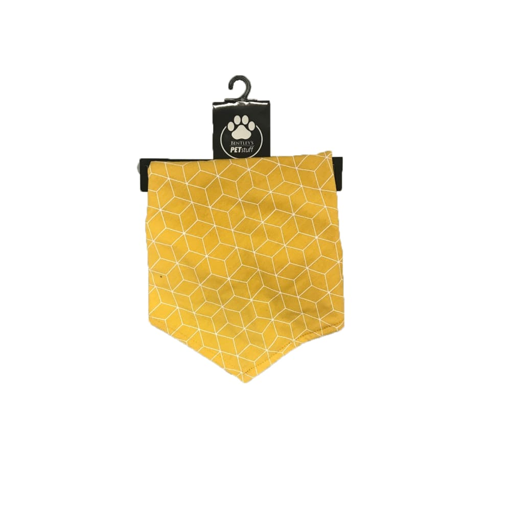 Bentley's Pet Stuff - Mustard Geo Bandana