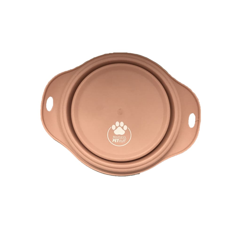Bentley's Pet Stuff - Pink Collapsible Travel Bowl