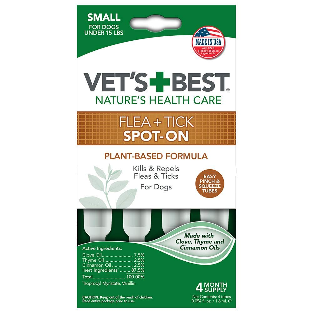Vet's Best - Natural Flea & Tick Spot-On Topical Treatment For Dogs