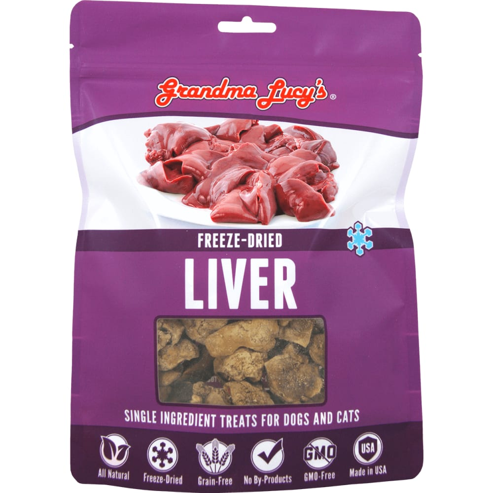 Grandma Lucy's - Single Ingredient Liver Grain-Free Freeze Dried Dog & Cat Treats, 2.5oz