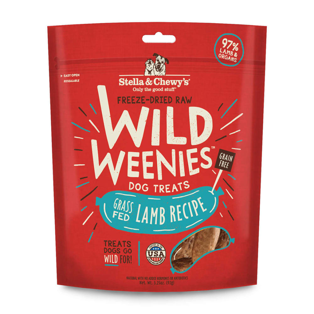 Stella & Chewy's - Wild Weenies Lamb Recipe Grain-Free Dog Treats, 3.25oz